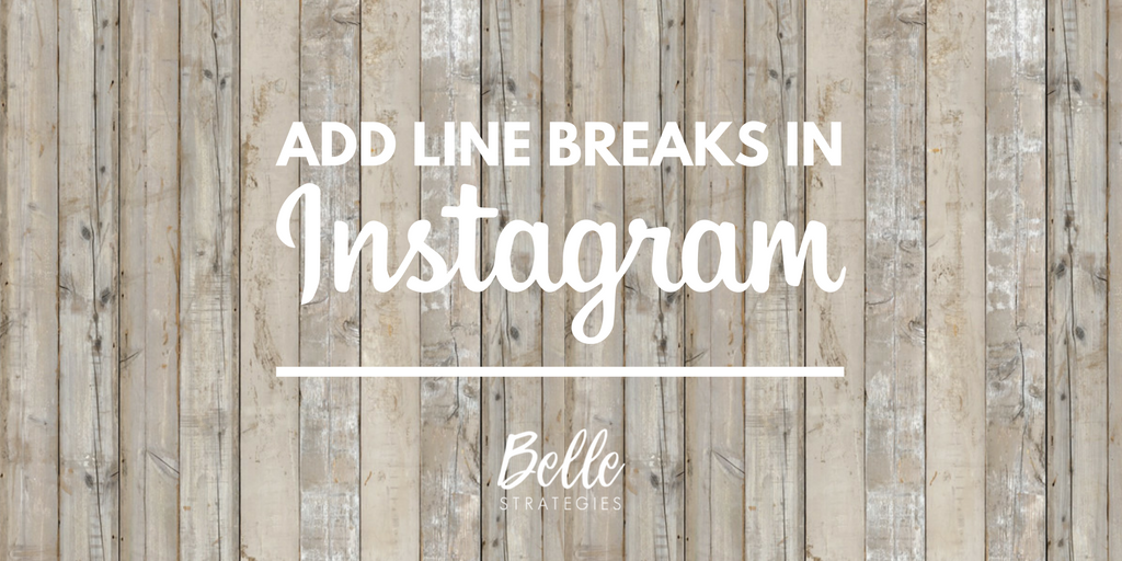 HOW TO ADD LINE BREAKS in instagram 3