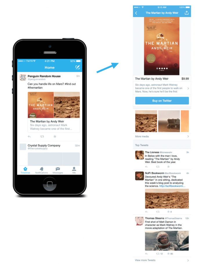 are tweets that link through to informational and identifying landing pages and tweets.