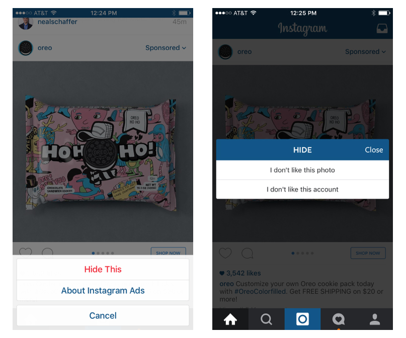 hide instagram ads - Belle Strategies