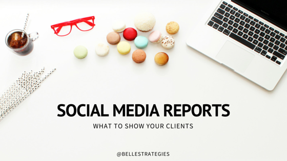 social media report belle strategies